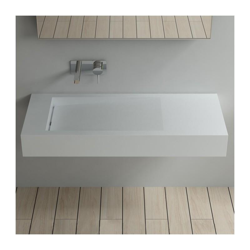 plan vasque suspendu avec vacuation lin aire vasque. Black Bedroom Furniture Sets. Home Design Ideas