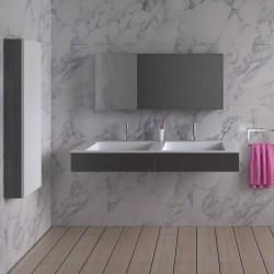 SDPW12-D : Plan vasque double avec rangements intégrés