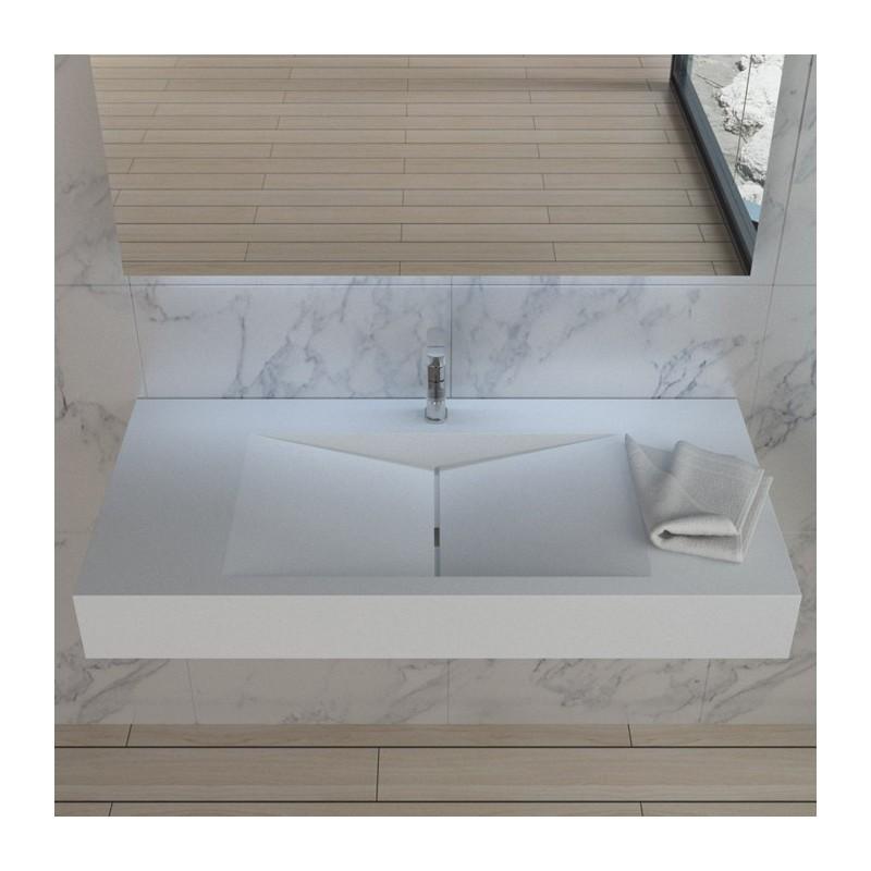 SDPW12-E : plan vasque à suspendre en polystone très résistant