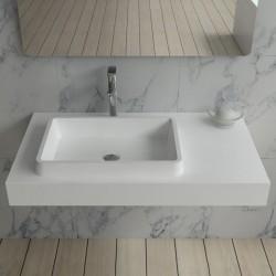 SDPW13-A : plan vasque moderne en polystone