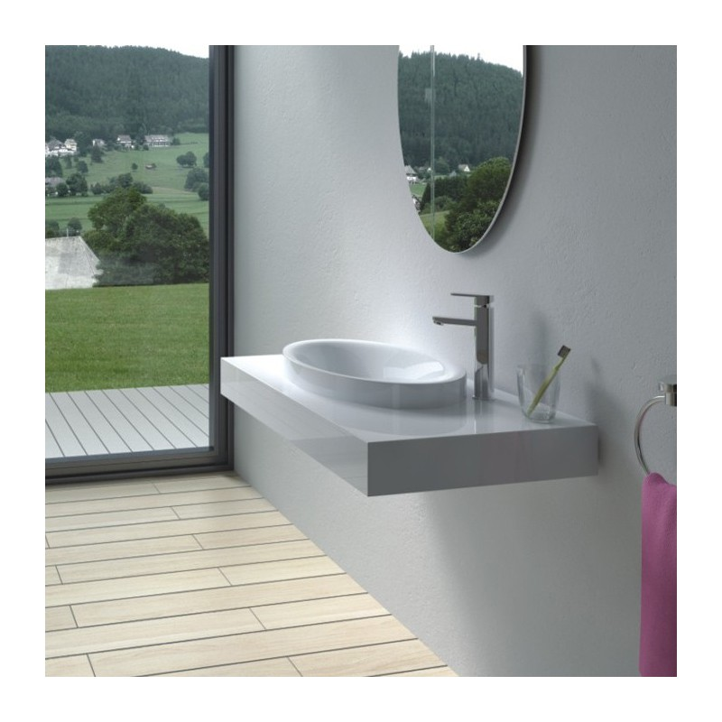 Plan vasque mural en solid surface : SDPW13-B