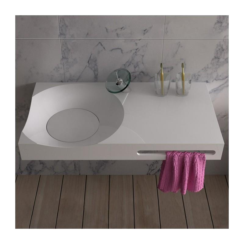 SDPW13-E : Plan vasque en polystone top tendance