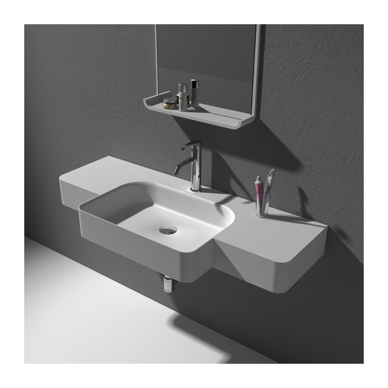 Grand plan vasque en solid surface SDWD38189