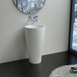 Vasque totem design en fonte minérale SDPW33