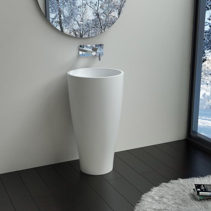 Vasque totem salle de bain best nouveau lavabo totem noir - Lave main sur colonne ...