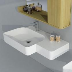 SDWD38186 : Plan vasque suspendu en solid surface