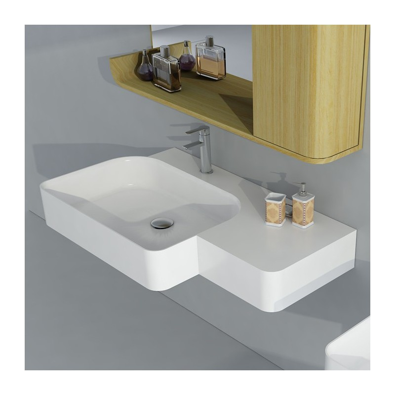 SDWD38186 : Plan vasque suspendu en solid surface