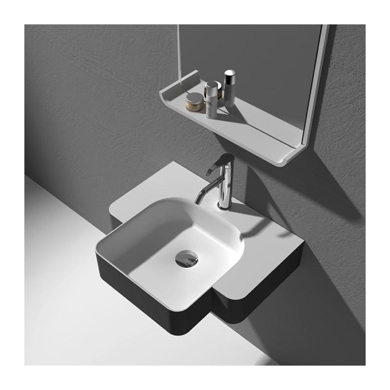Plan vasque suspendu en fonte minérale SDWD38185