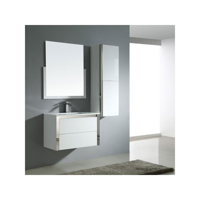 Sd025 750 meuble salle de bain coloris blanc salledebain online - Salle de bain online ...