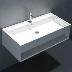 Large plan vasque suspendu avec rangement SDWD38160