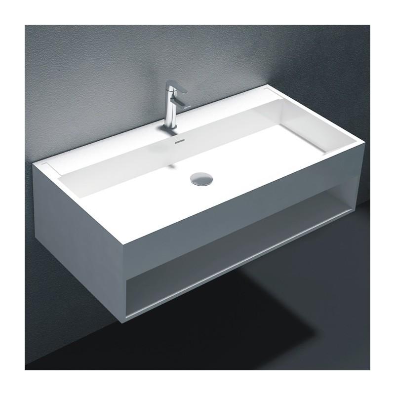large lave mains suspendu avec espace de rangement. Black Bedroom Furniture Sets. Home Design Ideas
