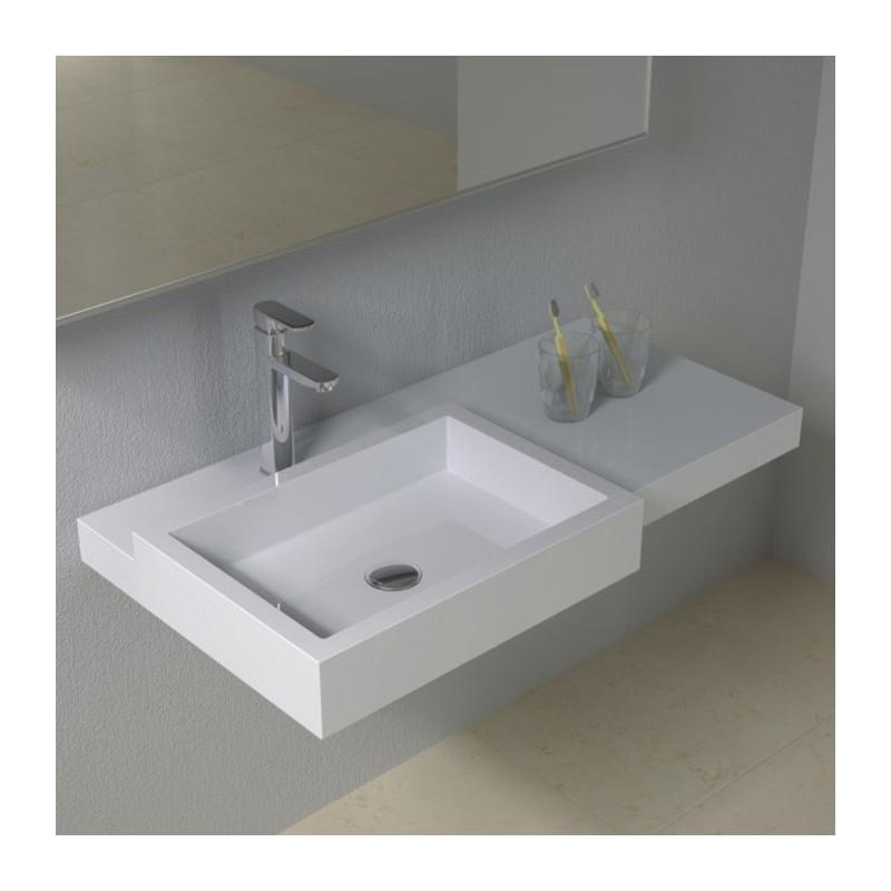 SDPW48 : plan vasque rectangulaire en débord