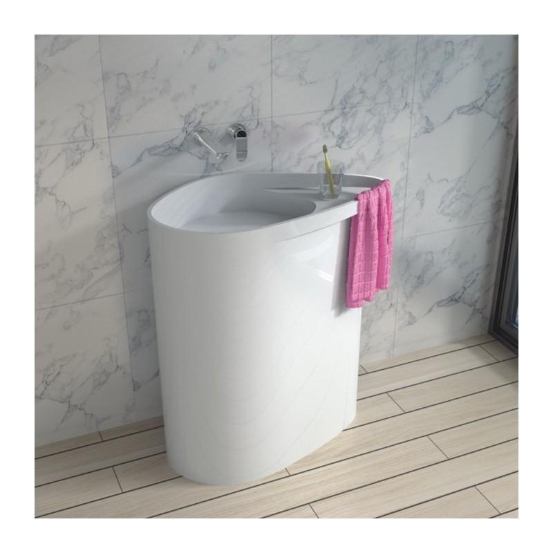 SDPW50 vasque totem sur pied avec porte-serviette