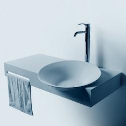 Large plan vasque suspendu avec porte-serviette SDWD3889-1