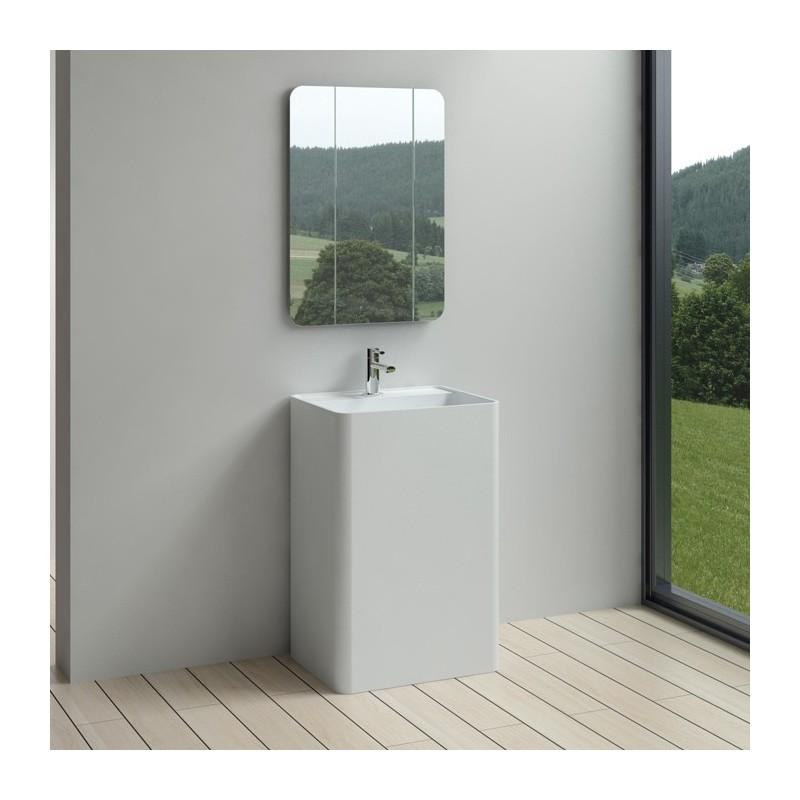 SDPW54 : vasque colonne rectangulaire
