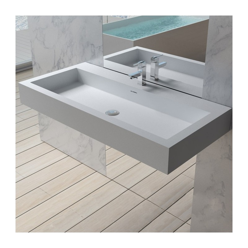 large plan vasque en solid surface. Black Bedroom Furniture Sets. Home Design Ideas
