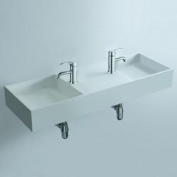 Plan double vasque compact face à face SDWD3830