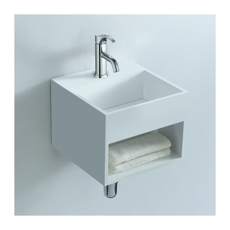 lave mains avec tag re int gr e. Black Bedroom Furniture Sets. Home Design Ideas