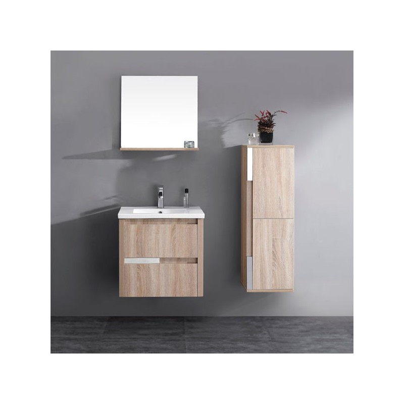 meuble salle de bain en mdf pr mont r f sd033 600lce coloris lin c rus. Black Bedroom Furniture Sets. Home Design Ideas