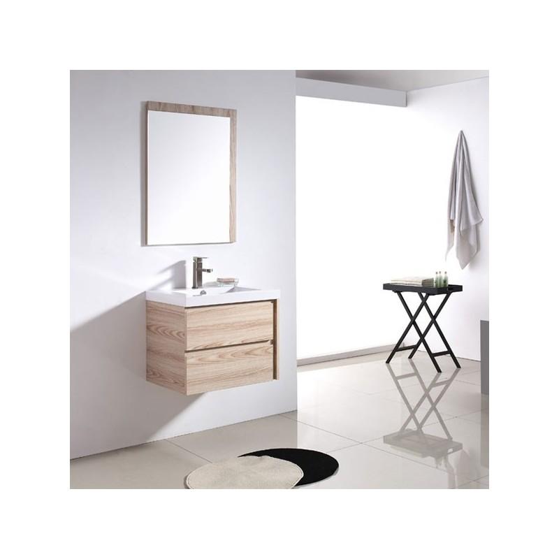Meuble salle de bain sd070 600 coloris beige ros salledebain online - Meuble salle de bain beige ...