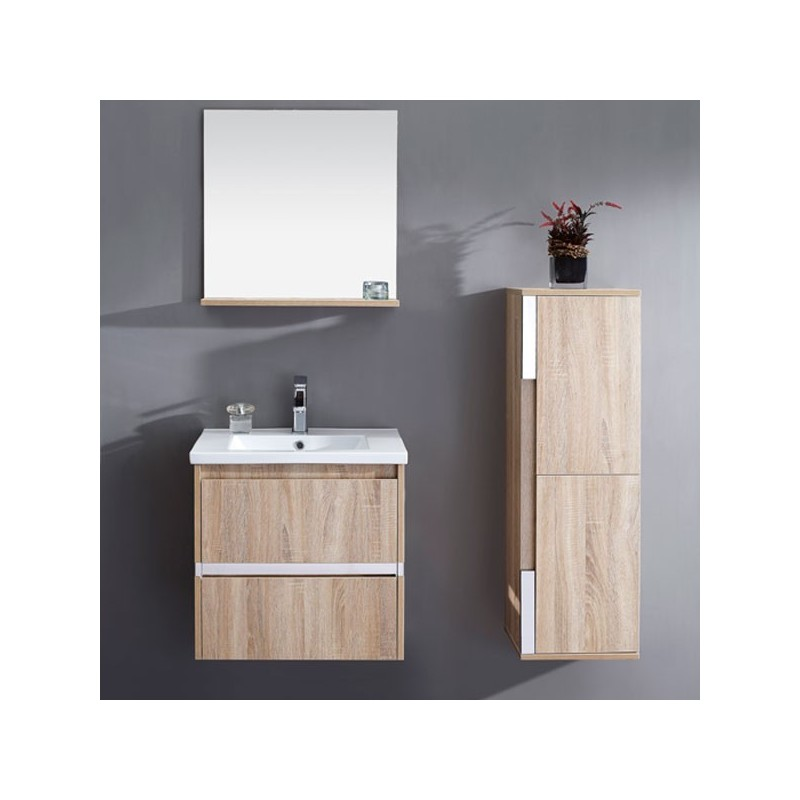 meuble salle de bain en mdf pr mont r f sd072 600lce coloris lin c rus. Black Bedroom Furniture Sets. Home Design Ideas