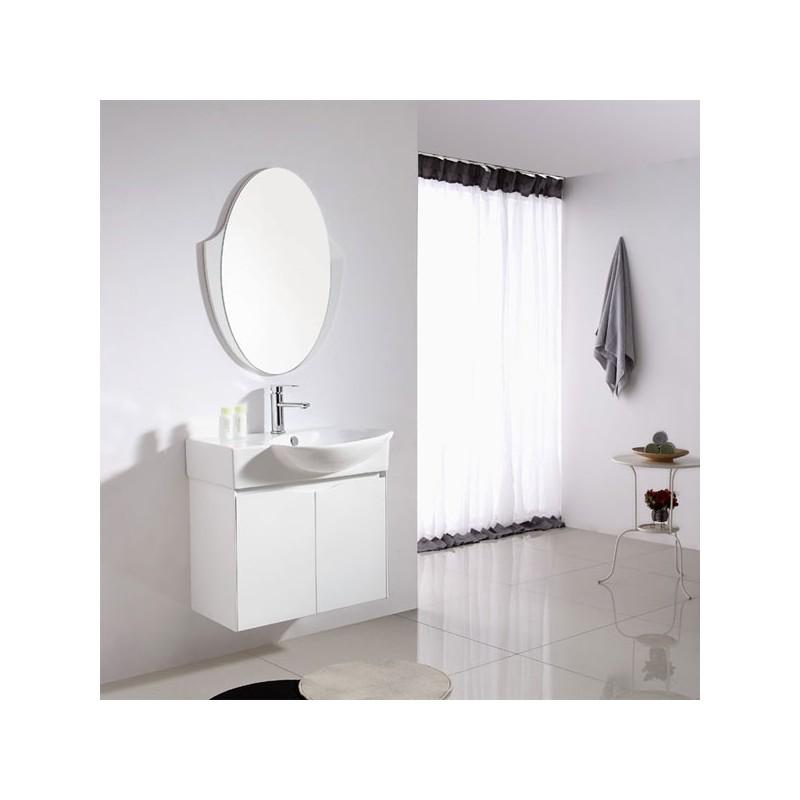 Meuble salle de bain sd091 750 coloris blanc salledebain online - Salle de bain online ...
