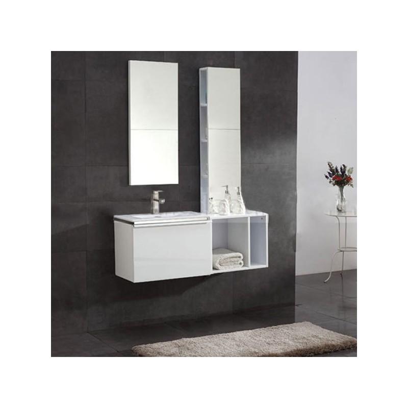 Sd092 1100l meuble salle de bain coloris blanc salledebain online - Salle de bain online ...
