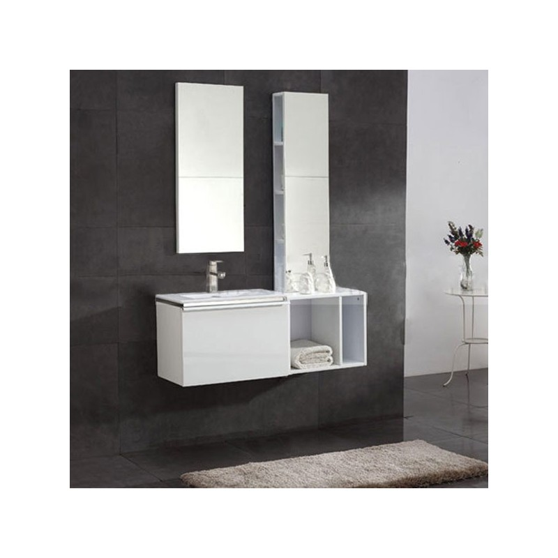 meuble salle de bain sd092 1100l coloris blanc. Black Bedroom Furniture Sets. Home Design Ideas
