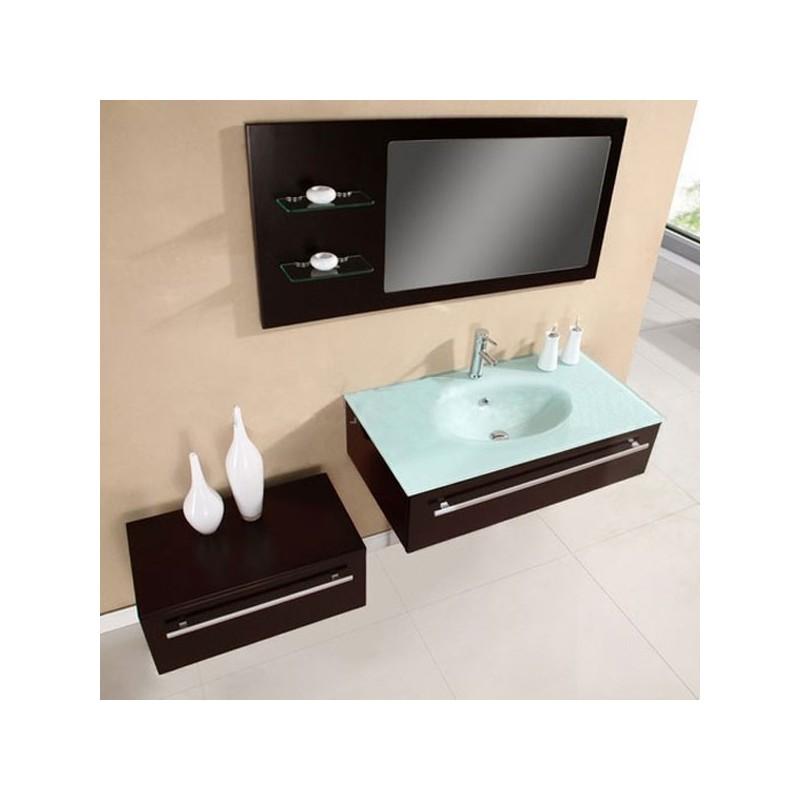 Meuble salle de bain de luxe en bois massif ref sd682w - Photo de salle de bain de luxe ...