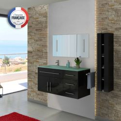 Meuble de salle de bain simple vasque design moderne DIS945N