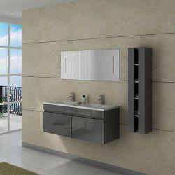 Meuble salle de bain DIS980GT gris taupe