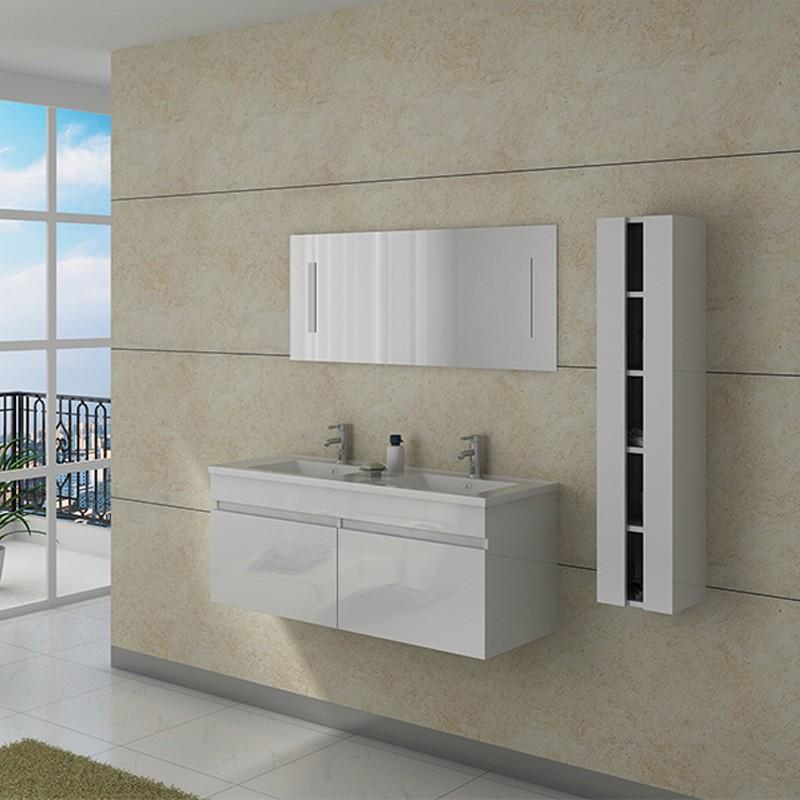 Meuble salle de bain DIS980B blanc
