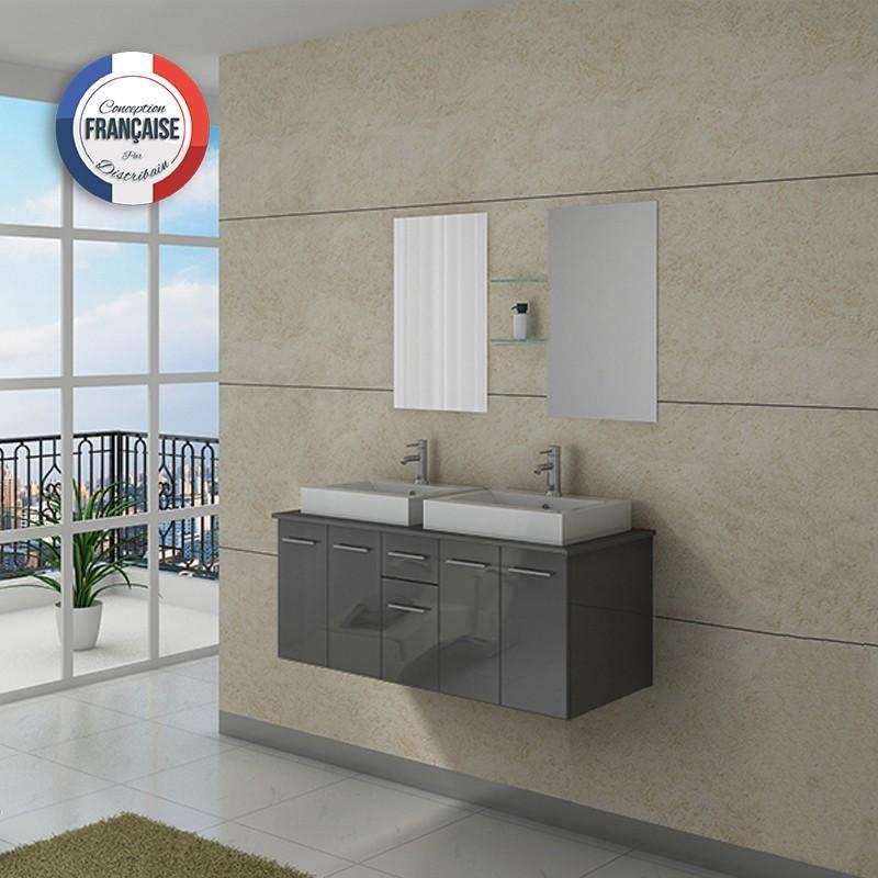 Meuble salle de bain ref dis981gt for Meuble de salle de bain gris