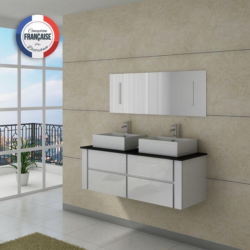 Meuble salle de bain noir et blanc design d 39 int rieur et for Salle de bain noir et blanc design