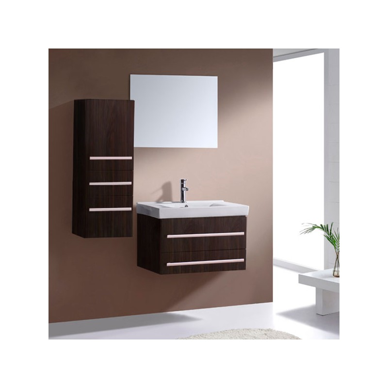 meuble salle de bain de luxe en bois massif ref sd684w coloris weng. Black Bedroom Furniture Sets. Home Design Ideas