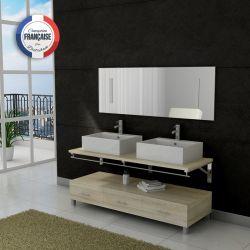 Meuble salle de bain double vasque Scandinave DIS985SC