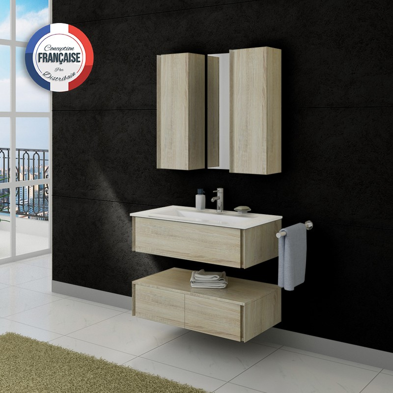 meuble salle de bain ref dis987sc. Black Bedroom Furniture Sets. Home Design Ideas