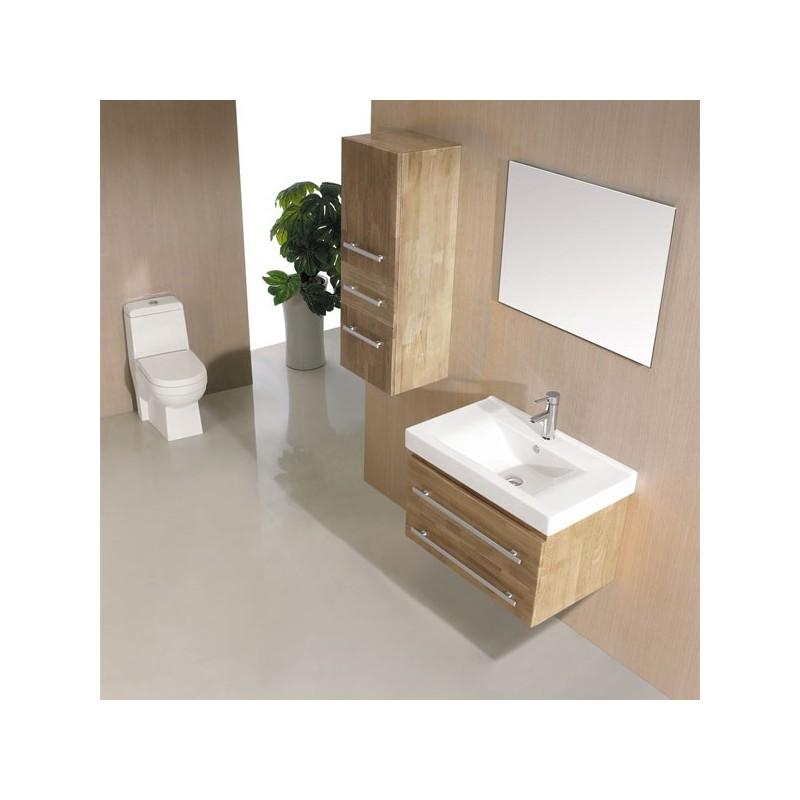 Sd684bn meuble salle de bain coloris bois naturel for Meuble en bois naturel