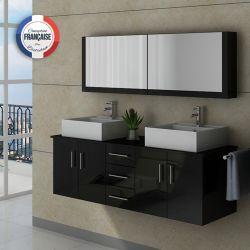 Meuble rangement salle de bain noir ~ Solutions pour la décoration ...