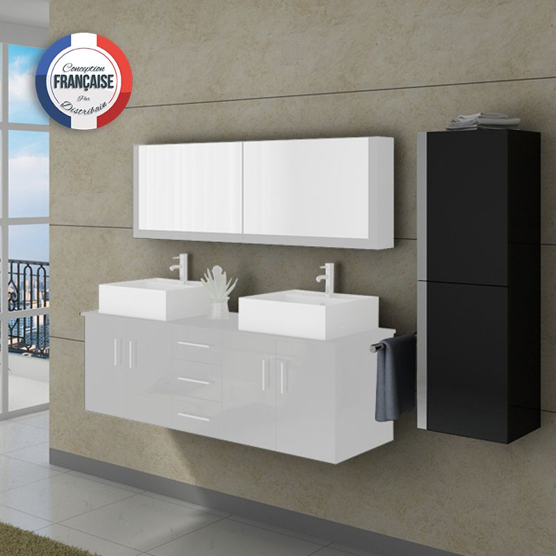 colonne de rangement salle de bain ref col991n. Black Bedroom Furniture Sets. Home Design Ideas