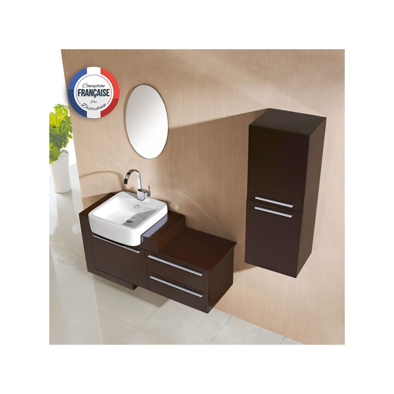 Meuble salle de bain de luxe en bois massif ref sd974w for Meuble colonne salle de bain wenge