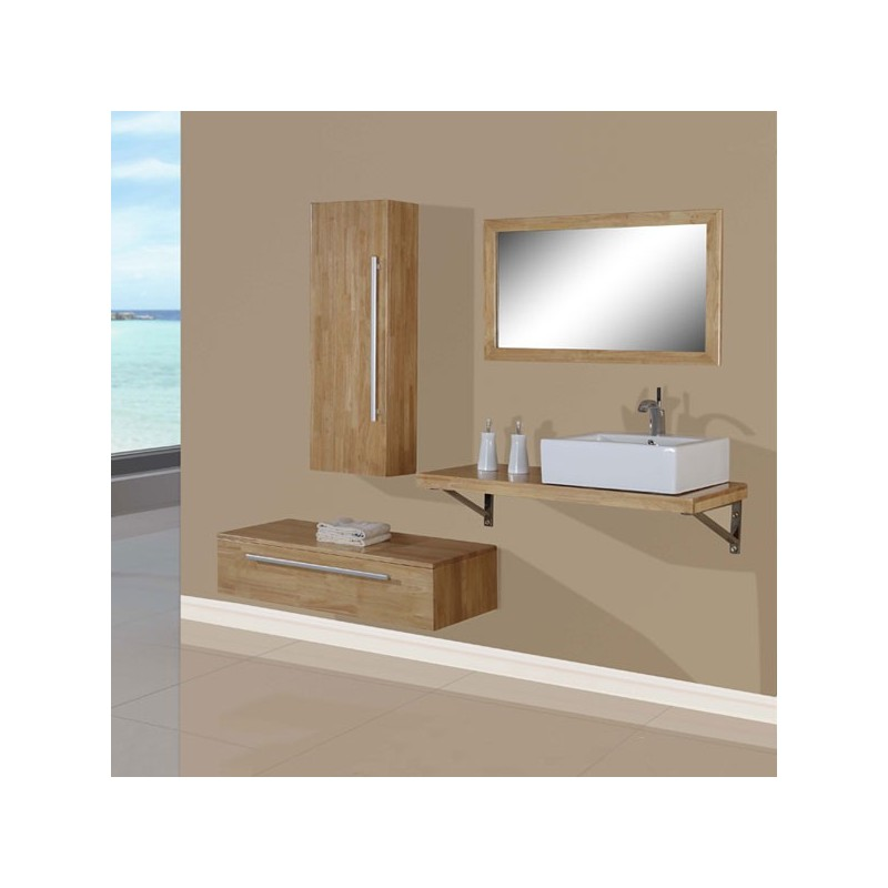meuble salle de bain de luxe en bois massif ref sd701hbn coloris bois naturel. Black Bedroom Furniture Sets. Home Design Ideas