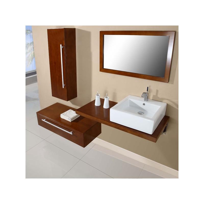 SD701HCC Meuble salle de bain coloris chêne clair
