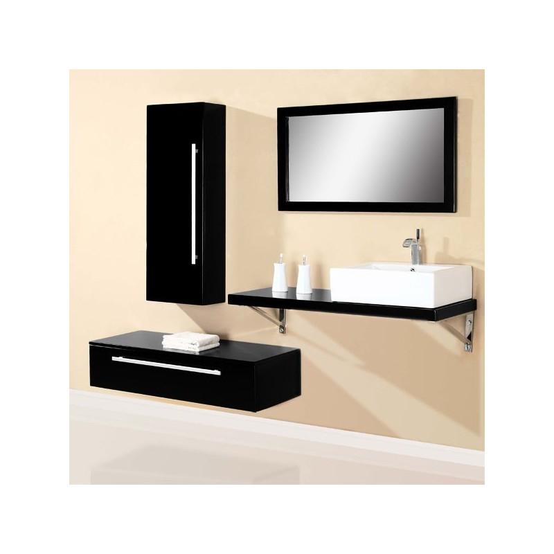 sd701hn meuble salle de bain coloris noir salledebain online. Black Bedroom Furniture Sets. Home Design Ideas