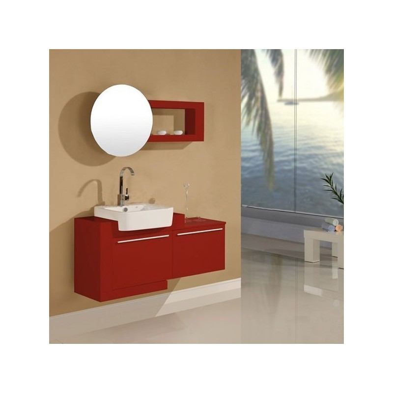 meuble salle de bain de luxe en bois massif ref sd835rc coloris rouge cerise. Black Bedroom Furniture Sets. Home Design Ideas