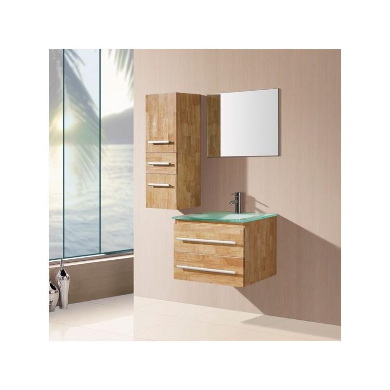Meuble salle de bain de luxe en bois massif ref sd932bn for Meuble salle de bain bois naturel