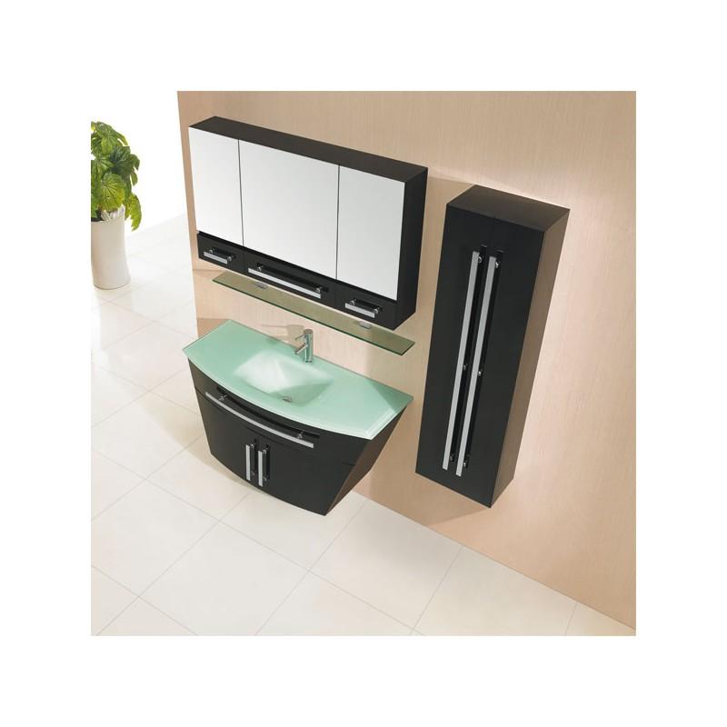 meuble salle de bain de luxe en bois massif ref sdg940n coloris noir. Black Bedroom Furniture Sets. Home Design Ideas