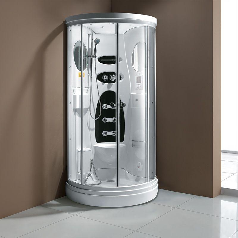 Cabine de douche hammam avec facade ronde Victoria
