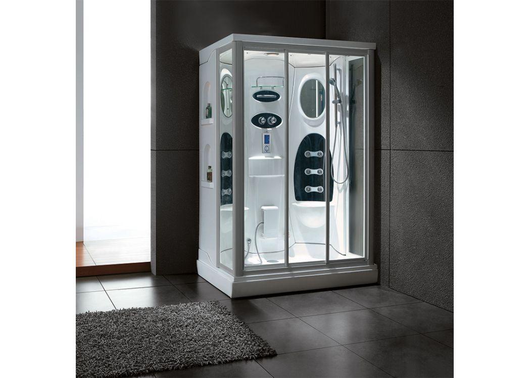 cabine de douche double systeme hammam et hydrommassage atlantis gl 528. Black Bedroom Furniture Sets. Home Design Ideas