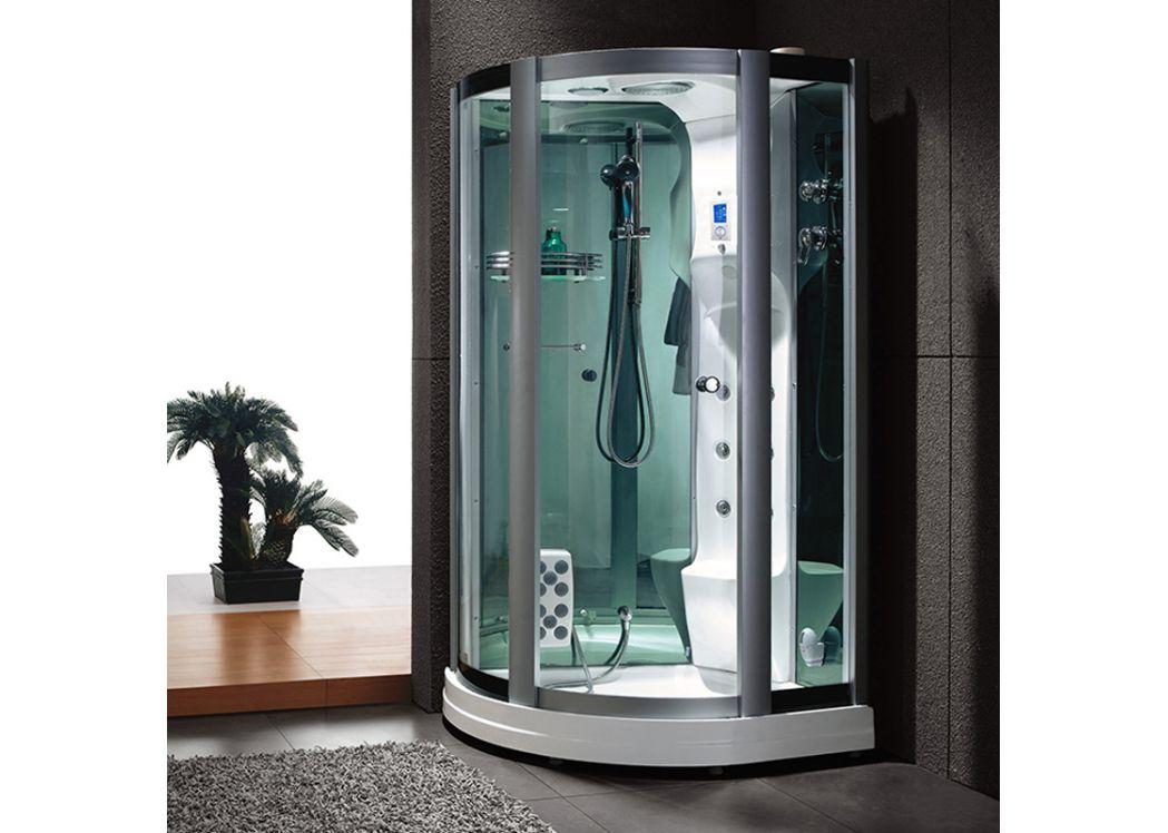 grande cabine de douche d 39 angle cabine de douche avec chromoth rapie et hydromassage d riviera. Black Bedroom Furniture Sets. Home Design Ideas